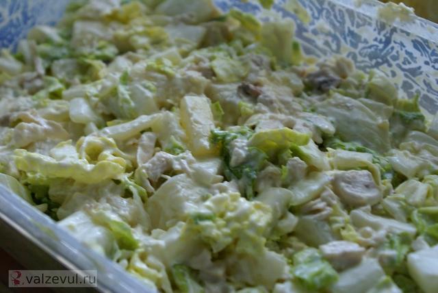 салат рецепт курица ананасы  — 066. Салат с курицей и ананасами (рецепт)