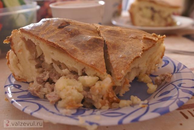 рецепт пирог с мясом  — 070. Пирог с мясом (рецепт)