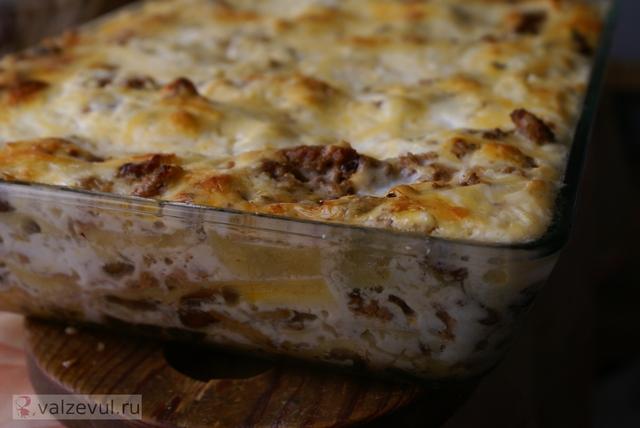 рецепт мясо лазанья грибы  — 064. Лазанья с грибами и мясом (рецепт)