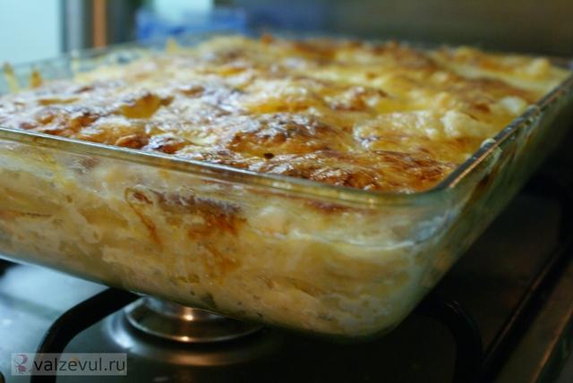 рецепт мясо картошка гратен бекон  — 087. Гратен с картошкой и беконом (французский рецепт)