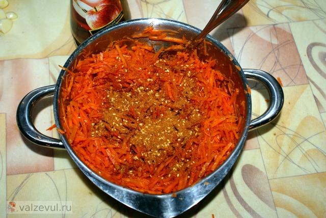 рецепт острое морковка по корейски  — 091. Морковь по корейски (рецепт)
