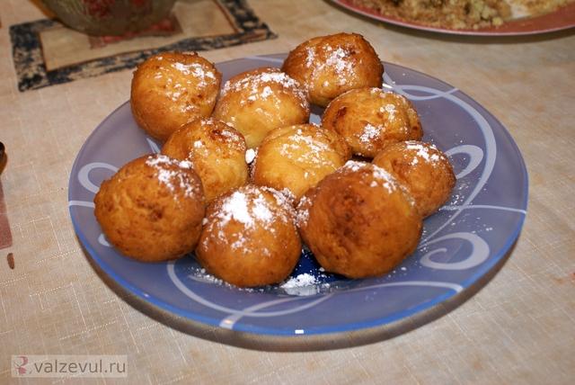 творог рецепт пончики десерт  — 094. Творожные пончики (рецепт)