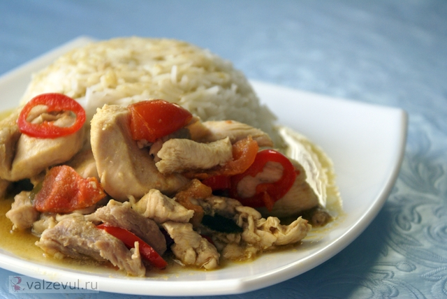 тайская кухня суп рецепт паста острые блюда острое карри блюда тайской кухни green curry paste  — 163. Зеленая паста карри с курицей (тайский рецепт Green Curry Paste)